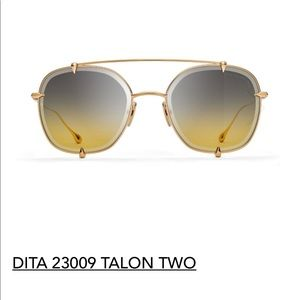 Gold Dita Talon Two Titanium Aviator Sunglasses